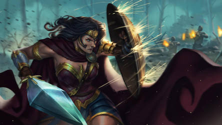 Wonder Woman Shield by BrianFajardo