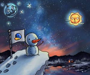 Some Snowmen Just Wanna Watch The World Burn by DrawceptionArtTrade