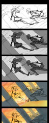 They fight step by step by DanielAraya
