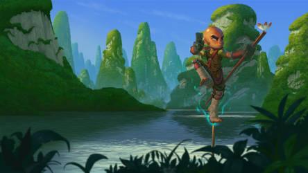 Dungeon Def - Monk by DanielAraya