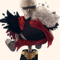 Underfell| Papyrus picked Sans up by renmargo