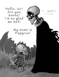 Papyrus and Gaster by renmargo