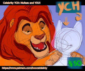 Celebrity YCH: Mufasa and You by tortieboo