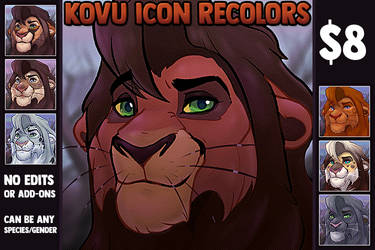 YCH: Let me color your OC as Kovu! by tortieboo