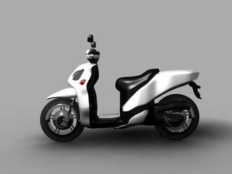 Yamaha Xenter 125 Side View by aawebb81