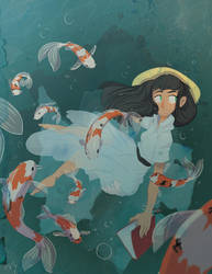 Koi Girl by PinkHitman