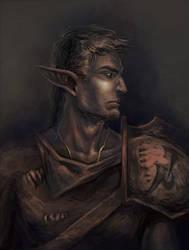 Lord Nerevar, the Hortator by RisingMonster