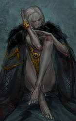 DS3 Oceiros the Consumed King x Pontiff Sulyvahn by RisingMonster