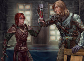 Commission: Allison and Severin by RisingMonster