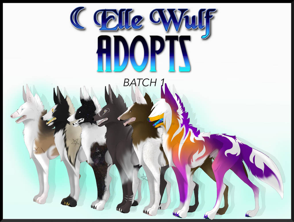 Adoptables | Batch 1 by canine-jaws