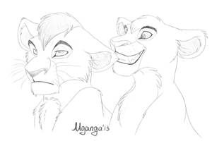 Commission - Casia and Urso by Mganga-The-Lion