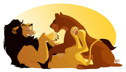 Ahadi and Uru by Mganga-The-Lion