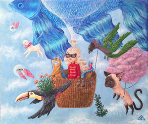 Sky fishing by Polina-Shelest