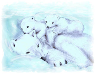 color polar bears -1- by Sassille