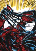 Spider-man vs alien costume by markman777
