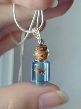 Tiny Sea Turtle in Bottle by jen4eternity