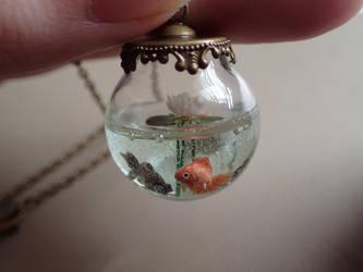 Goldfish pond orange and black by jen4eternity