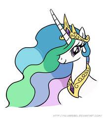 Princess Celestia Commission by Silvarebel