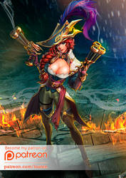 Captain Miss Fortune by louten