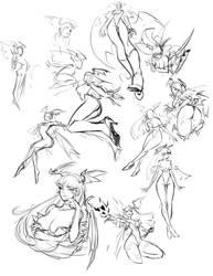 Morrigan sketches by louten