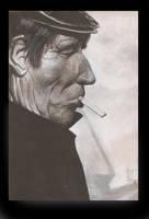 un hombre y su cigarro by ojoblindado