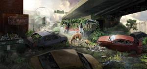 Overgrown City Concept by Mr-Donkeygoat