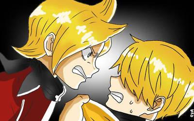 One Piece Fanart by me Sanji and Ichiji by mya-andres