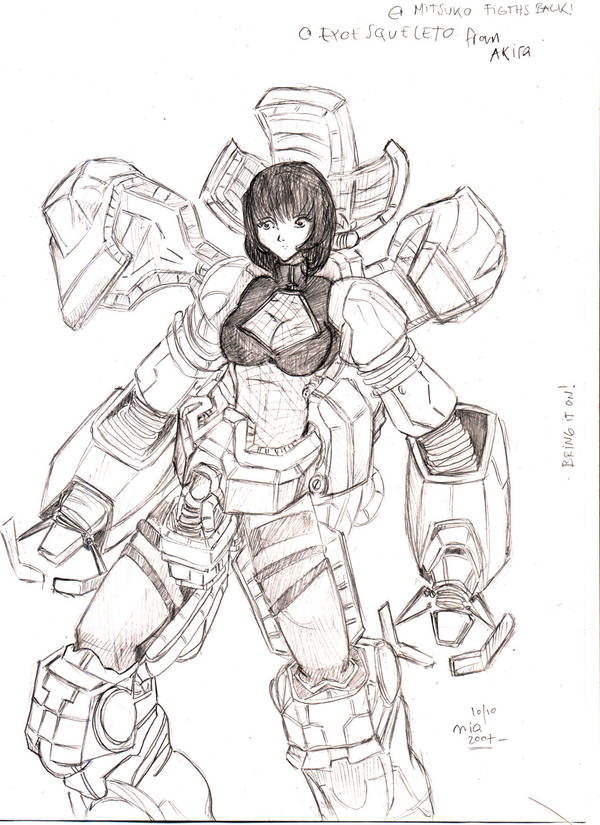 Fujiko Exoskeleton by invader-mialee