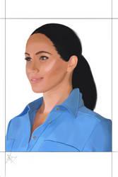 Meghan Markle Portrait  by Lemon-ZestArt