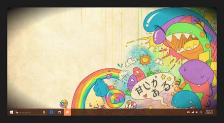 Concept 1: Windows 10 Desktop + Taskbar by JFIII