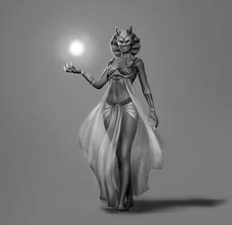 Bastet-priestess by JuliaNemo