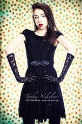 black dress vintage background by athrawn