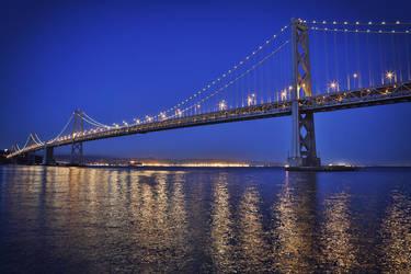 Oakland Bay Bridge @ night by athrawn