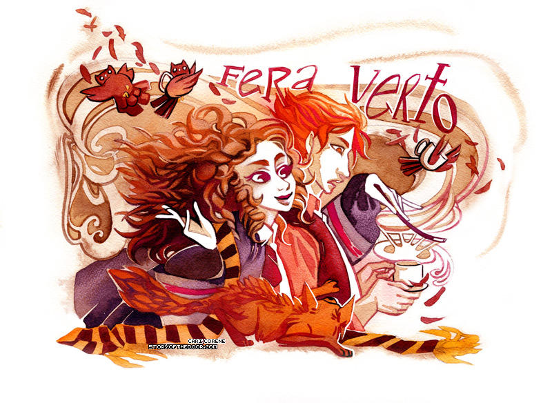 Ron and Hermione by blix-it