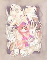 Buncorgi and Her Bunfriends! by blix-it