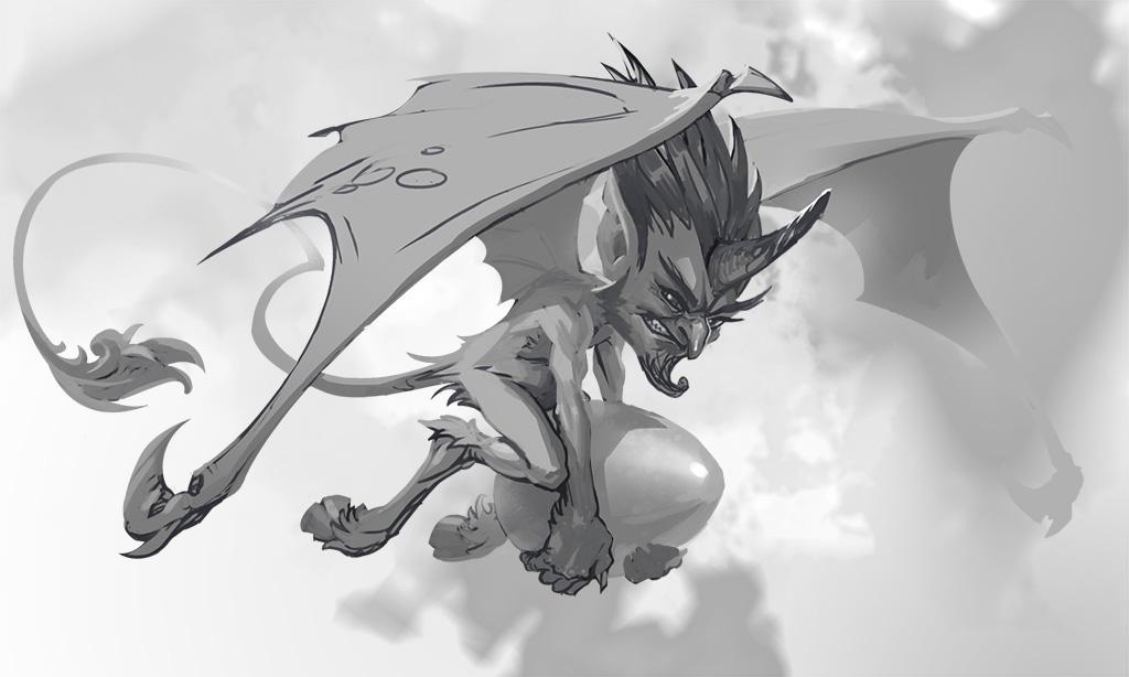 Little Devil Sketch by dron111