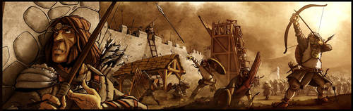The siege of Skupi by the Slavic tribes by drvce