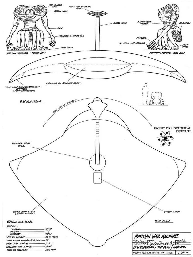 Schematics of Martian Warship 2 by ChaosEmperor971