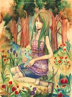 commission-Forrest girl by namirenn