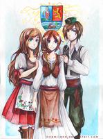 Commission - trio by namirenn