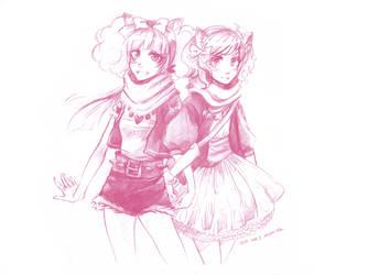 commission- girls by namirenn