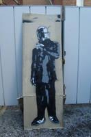 Daft Punk Stencil by mouton595