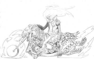 Ghost Rider Pencil by EmaCamU