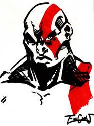 Kratos portrait by EmaCamU