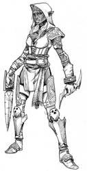 Dark Elf Assassin by EmaCamU