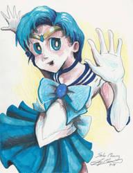 Sailor Mercury Drawing by Jaymooers