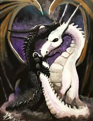 Ying Yang dragons by Jaymooers
