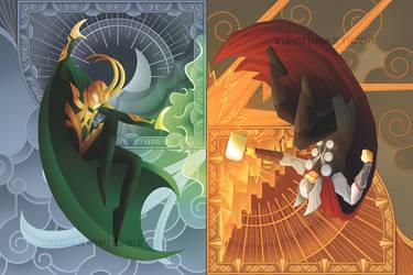 Thor vs Loki by SMachajewski