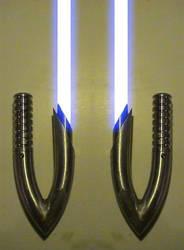 Curved Hook Lightsaber Hilts by hapajedi