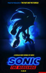 Sonic the Hedgehog Movie | I am redraw new poster by PiRoG-Art